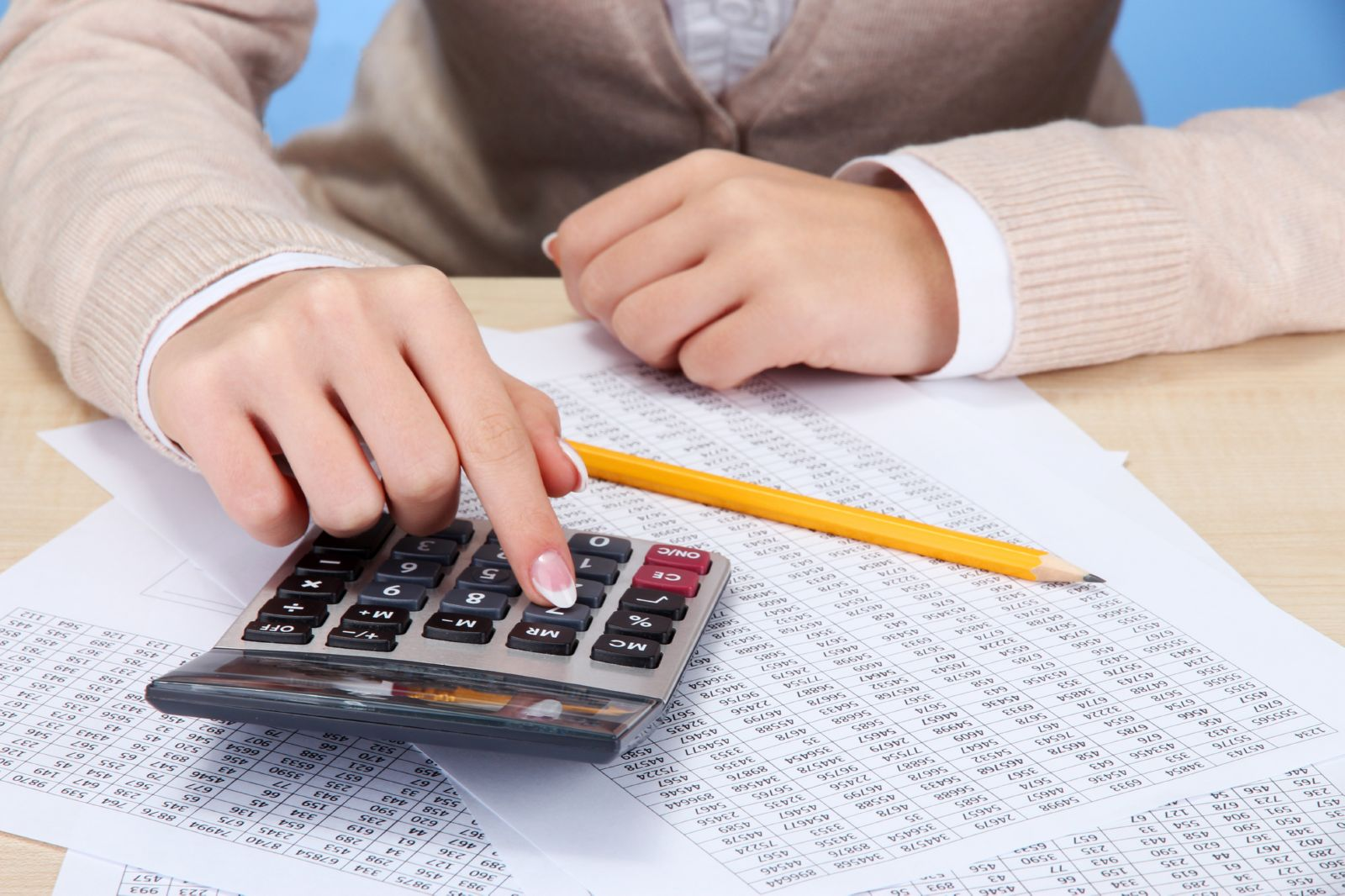 Расчет выплаты на калькуляторе