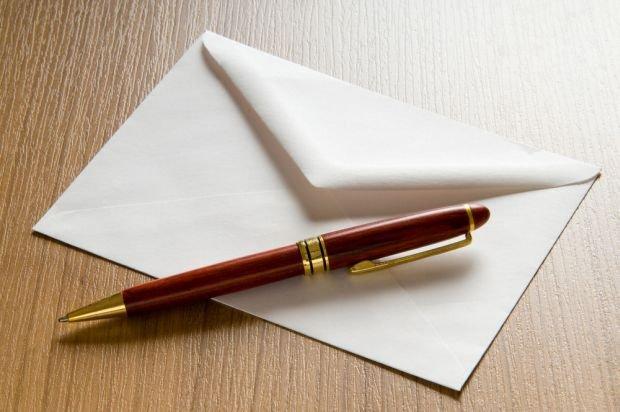 Конверт с ручкой