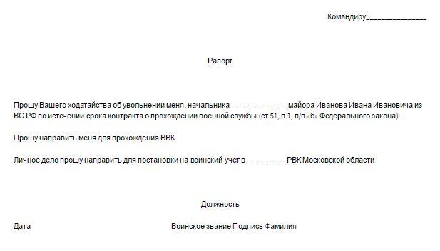 Изображение - Рапорт на увольнение по собственному желанию K3-raport-po-okonchaniyu-kontrakta