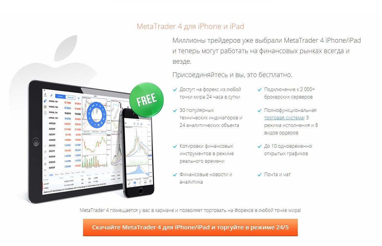 Платформа МетаТрейдер 4 для смартфонов