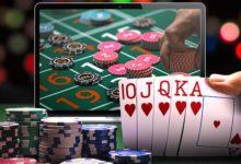 Игра в казино на ноутбуке